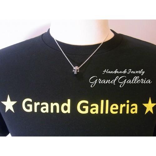 送料無料Grand Galleria グランドガレリア スカル 髑髏 ネックレス ペンダント 誕生石 天然石 チェーン35~60cm シルバーアクセサリー シルバー925 ハンドメイド 手作り メンズ 彼氏 誕生日 プレゼント ギフト包装LAj3R45
