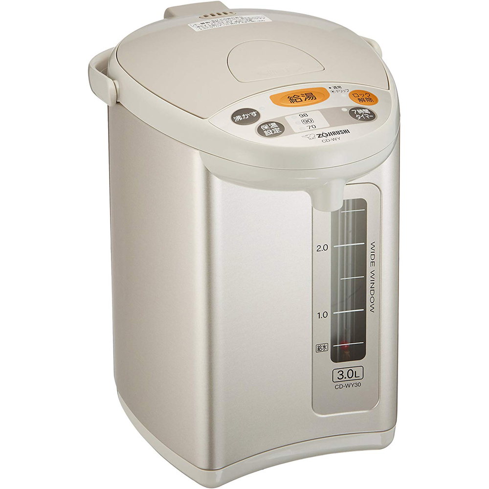 象印 ZOJIRUSHI マイコン沸とう電動ポット CD-WY30-HA グレー 電気ポット 3.0L カフェドリップ給湯 節約タイマー 省エネ