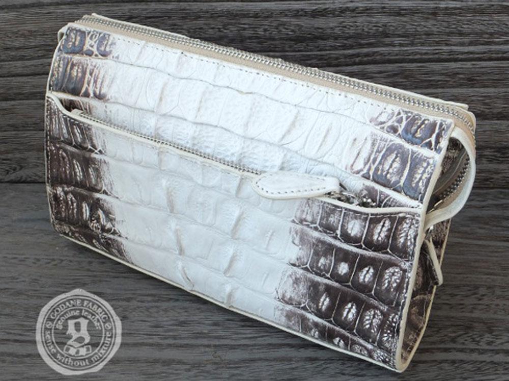 ゴダン バッグ GODANE カイマン クロコダイル 2Wayバッグ spbg99751cpRD Himalaya ヒマラヤカラー セカンド ショルダーバッグ クラッチバッグ サコッシュ メンズ鞄 ブリーフケース