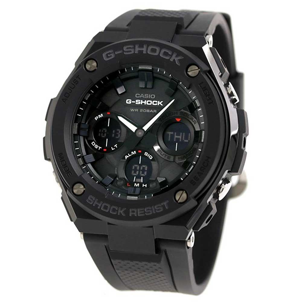 送料込CASIO カシオ Gスチール G-STEEL GST-S100G-1BDR ソーラー アナデジ オールブラック メンズ腕時計 メンズウォッチ 並行輸入品