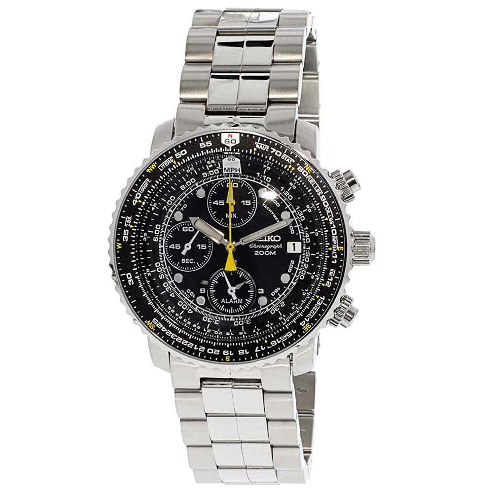 キャッシュレス5%還元 SEIKO セイコー クロノグラフ アラーム SNA411P1 メンズ腕時計 海外モデル メンズウォッチ 並行輸入品 誕生日 クリスマス プレゼント