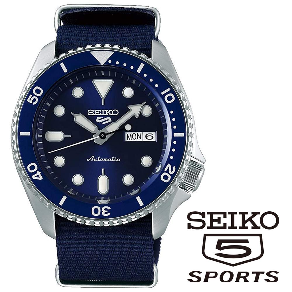 SEIKO セイコー5 スポーツ 5 SPORTS 自動巻き メンズ腕時計 SRPD51K2 ネイビー ナイロンベルト 海外モデル メンズウォッチ ファイブスポーツ 並行輸入品