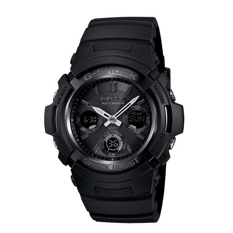 送料込 CASIO カシオ G-SHOCK Gショック 電波ソーラー アナデジ AWG-M100B-1A オールブラック メンズ腕時計 メンズウォッチ 並行輸入品