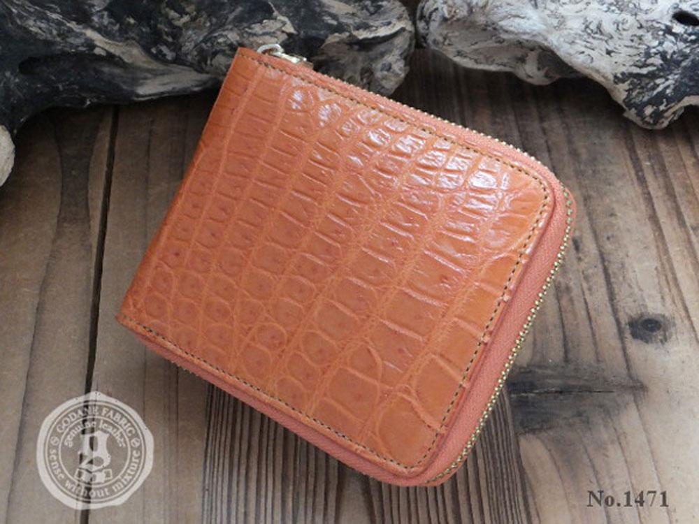 ゴダン 財布 GODANE シャムクロコダイル センターベリー 折財布 ビルフォード spsw 1207 Orange オレンジ ワニ革メンズ レディース