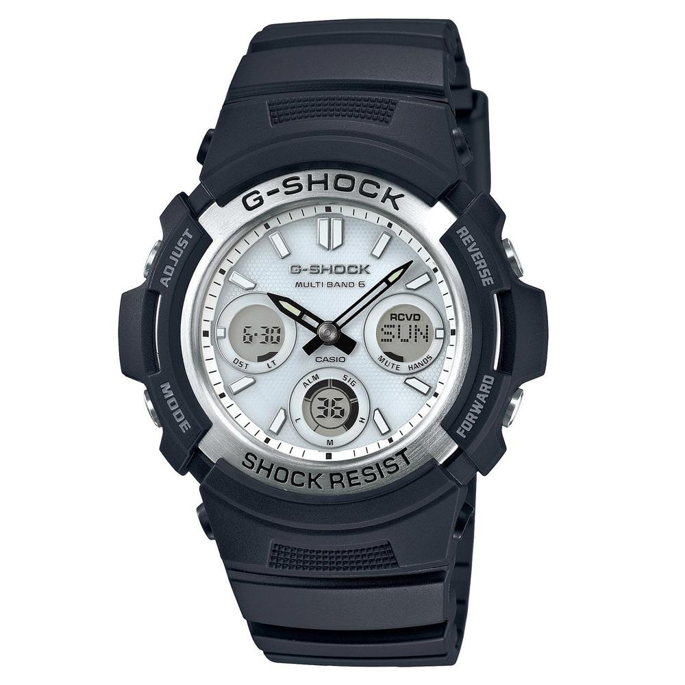 CASIO カシオ G-SHOCK Gショック AWG-M100S-7A 電波ソーラー 海外モデル アナデジ メンズ腕時計 メンズウォッチ 並行輸入品