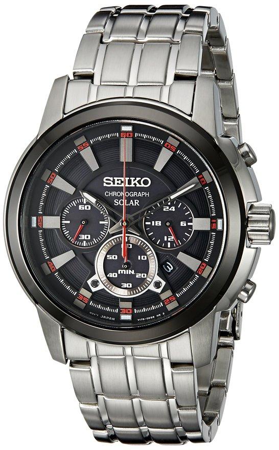 セイコー 時計 Seiko Men's SSC389 Chrono Analog Display Japanese Quartz Silver Watch メンズ腕時計 アナログディスプレイ クォーツ シルバーウォッチ 並行輸入品