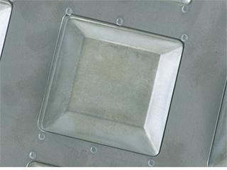 シリコン加工天板 カトラー70mm 20連(プレスタイプ) 業務用サイズ(545✕395mm)千代田金属工業CHIYODA【受注生産】