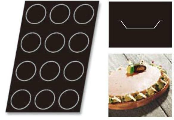 DEMARLE FLEXIPAN ドゥマール フレキシパン タルトレット【1328】(円)パイ型;直径11cm(高さ2cm) 12取 業務用600×400mmフレンチサイズ