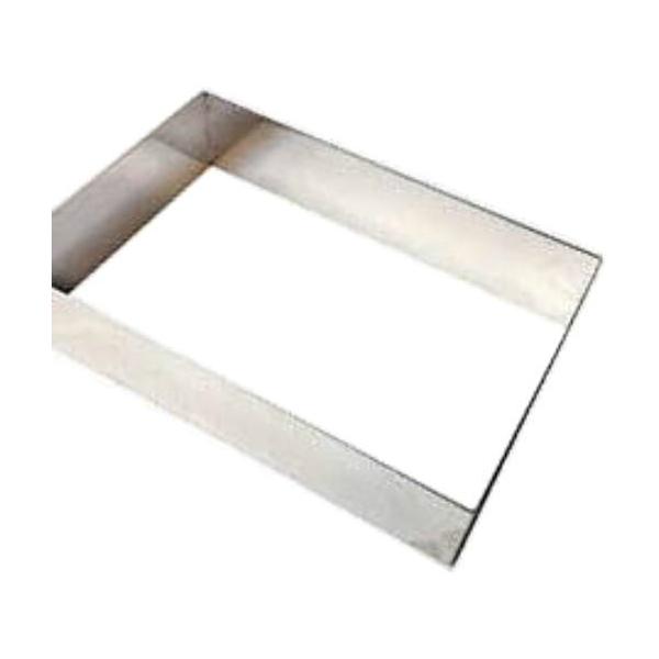 長角セルクル 長方形ケーキリング 6枚取天板用 H45カードル 480✕340✕H45 板厚3mm 業務用ring3605300