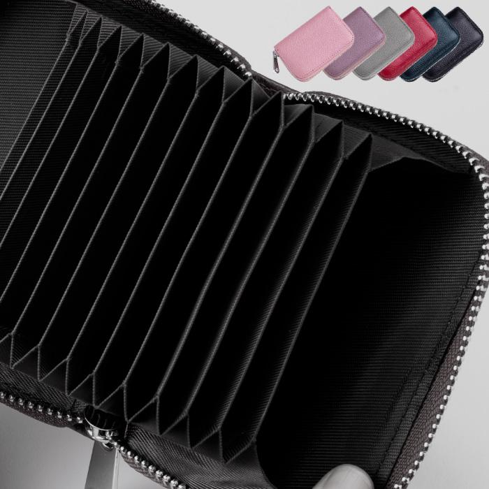 クレジット カード ケース スキミング防止 RFID カード入れ じゃばら 財布 シンプル 本革調 大容量 メンズ レディース プレゼント