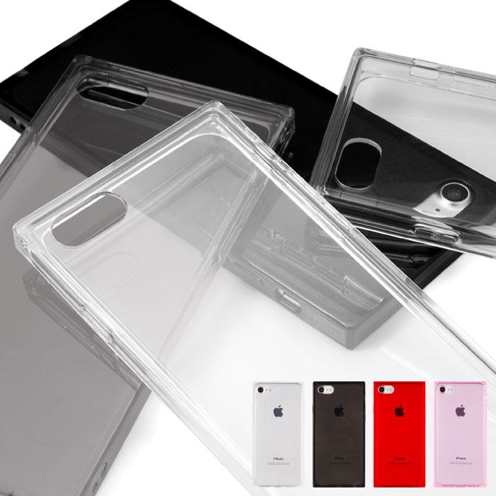 iPhone8 ケース iPhone 訳あり商品 XR スクエア 四角 透明 クリア TPU iPhone12 mini iPhone7 iPhoneケース Pro XS ソフトケース Max 日本未発売 Plus スマホカバー スマホケース スクウェア カラフル