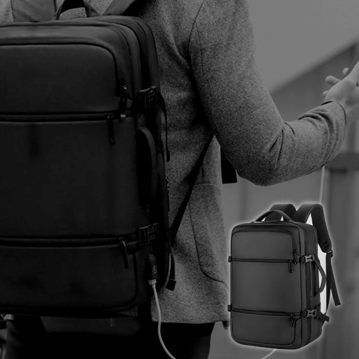 ビジネス リュック 防水 3WAY A4 サイズ ノートPC 人気の製品 17インチ USB 通勤 通学 出張 黒 大容量 ブラック 旅行 ランキングTOP10 リュックサック PC ビジネスバッグ ビジネスリュック バックパック 収納 軽量