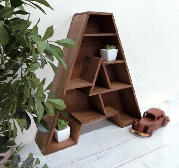 アンティーク風 アルファベットシェルフ A E Z ウッドラック 木製ラック 木製 ウッドシェルフ シェルフ 棚 シェルフ ディスプレイラック
