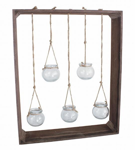 ウッドデコグラス ハイL  WOOD DECO GLASS HIGH L ZHGR1043 フラワーベース フラワーポット 花 鉢 観葉植物 ガーデン雑貨 ナチュラルガーデン