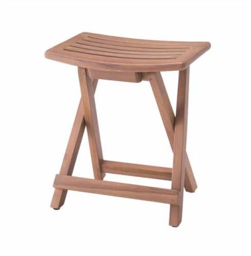 アンティーク風 フォールディングスツール おしゃれ 背もたれなし 木製 スツール 椅子 イス いす 折りたたみ可能【送料無料】