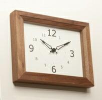 リブクロック レクタングル ナチュラル ブラウン ラルース La Luz 時計 壁掛け 掛け時計 掛時計【送料無料】