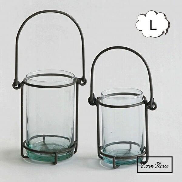 ハンギング プランター コラム Lサイズ アイアン IRON ガラス Horn Please 志成販売 423296 丸形 丸型 ガラス/花瓶 フラワーベース フラワー アレンジメント【送料無料】