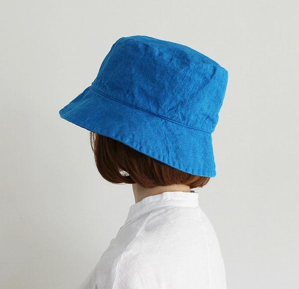 エルマ・ハット・ミノルカブルー リーノエリーナ Lino e Lina SW032 ハット エルマ・イネス 内側ひも付き リネンハット 帽子 ナチュラ【送料無料】