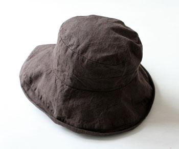 ハット マノン カカオ W18 リーノエリーナ Lino e Lina 内側ひも付き チョコレート ブラウン リネンハット 帽子 ナチュラ【送料無料】