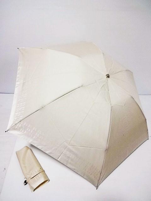 バーバリー BURBERRY ロゴ縁取り 婦人折り畳み傘 日本製 (ライトベージュ)