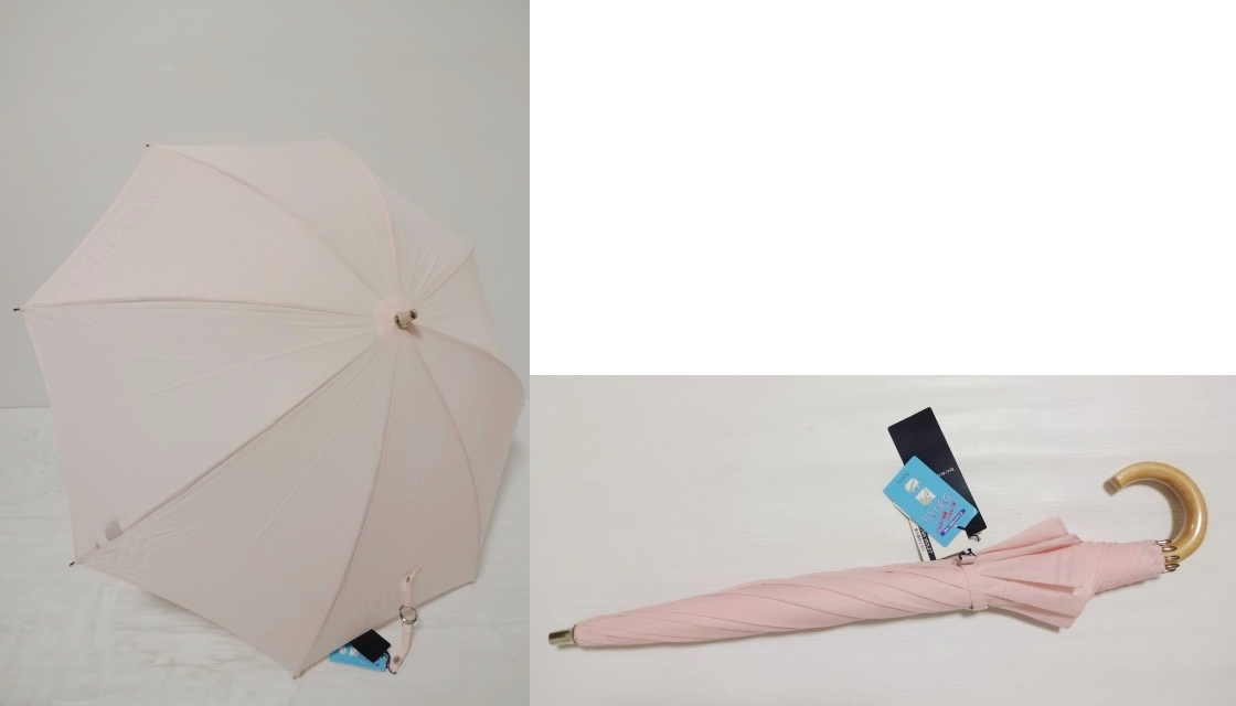 バーバリー BURBERRY 大きなロゴ UV 晴雨兼用 婦人傘プチパラ (ピンク) 日傘