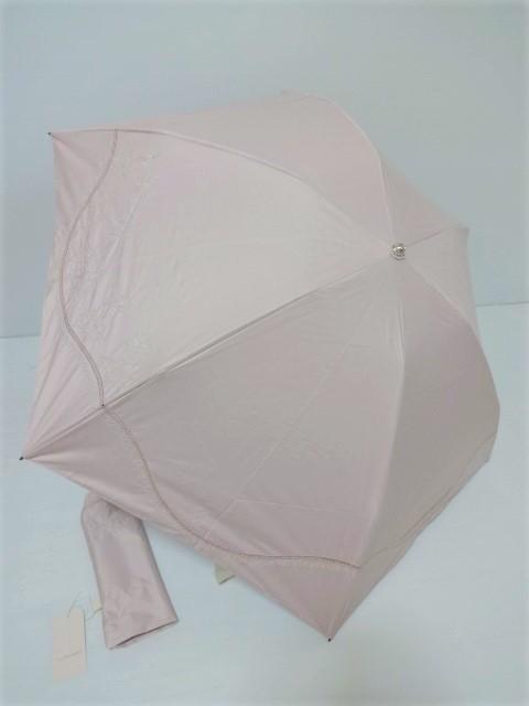 ジルスチュアート JILL STUART シェル柄 きらきらラメ糸刺繍 晴雨兼用 婦人折り畳み傘 (日傘)ピンク