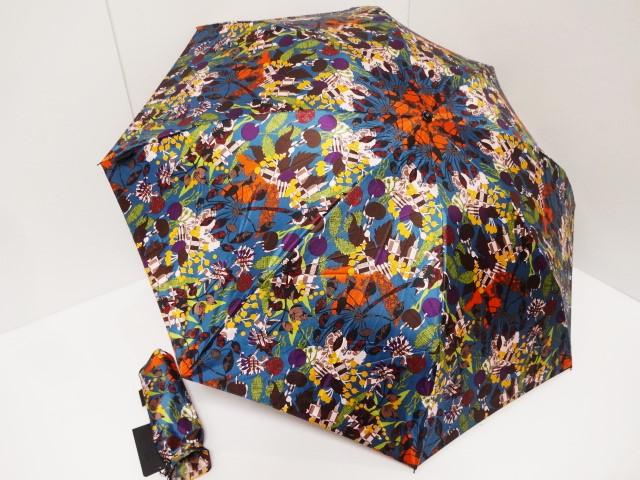アナスイ ANNASUI カラフルな花模様 ロゴ入り グラスファイバー骨使用 婦人折り畳み傘 日本製