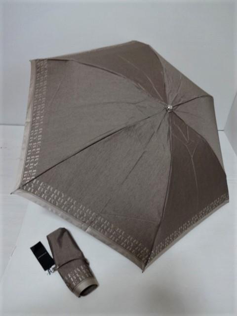 バーバリー BURBERRY ロゴ縁取り 婦人折り畳み傘 日本製 (ライトブラウン)