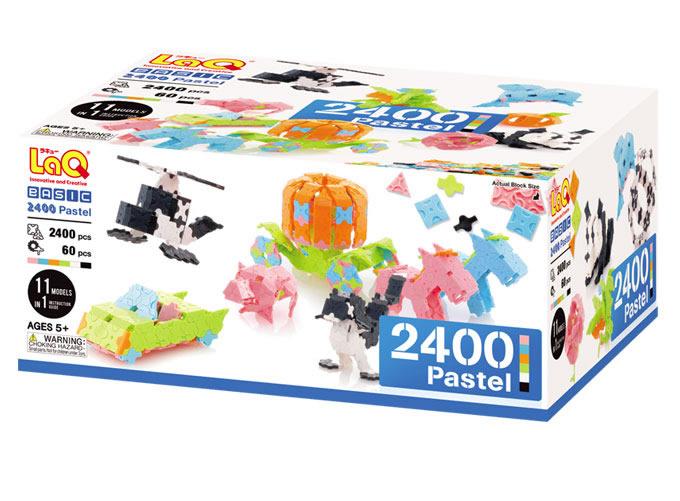 【ラッピング・のし・メッセージカード無料】LaQ  ラキューベーシック2400 パステル 知育玩具 誕生日 5歳 6歳 ラキューベーシック laq 女の子 【02P05Nov16】