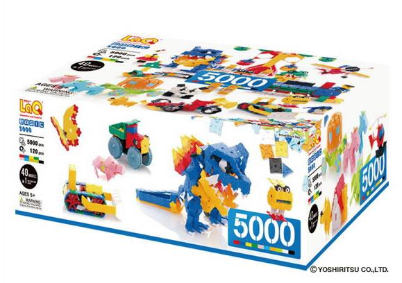 LaQ  ラキュー ベーシック5000  知育玩具 誕生日 5歳 4歳 男の子 女の子 laq 【02P05Nov16】
