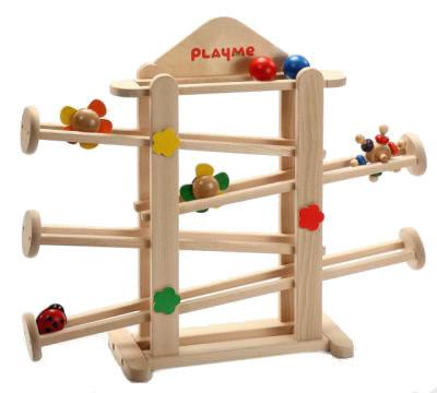 フラワーガーデン Playme スロープトイ プレイミー 木のおもちゃスロープ おもちゃ 0歳 1歳 2歳 誕生日 木のおもちゃ ニックスロープ NICスロープとほぼ同じ大きさ 玉の道 玉落とし 【02P01Oct16】