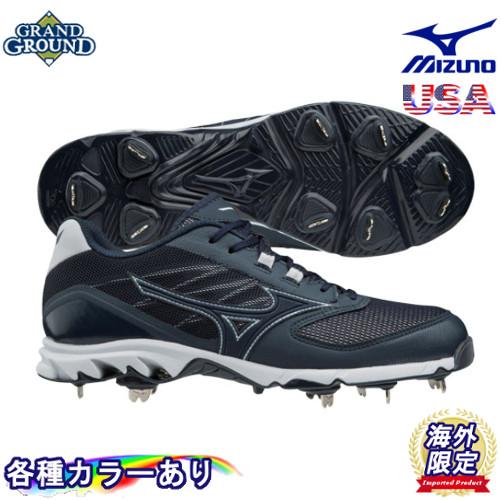 Mizuno Mens 9-Spike Dominant Ic Low Metal Baseball Cleat Shoe