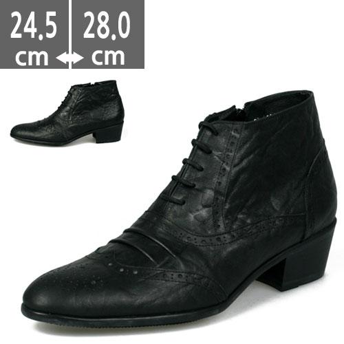 ウエスタン プレミアム牛革ブーツ ブラック 黒 ハンドメイド ウエスタン ヒールブーツ メンズ、ブーツ、ヒール5.0cm、メンズ ハイヒール、5.0cmヒール ブーツメンズ、ウエスタン