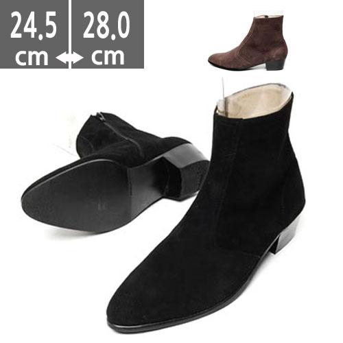 プレミアムメンズ ブーツ 本革 レザー ホスエードブーツ ハンドメイド ウエスタン ブーツ、ヒール4.0cm、メンズ ハイヒール、4.0cmヒール ブーツメンズ、ウエスタン ブーツメンズ、ウエスタンブーツ、ヒールブーツ メンズ、乗馬ブーツ メンズ