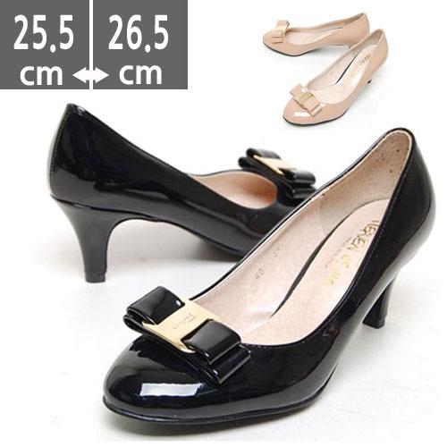 大きいサイズ レディース靴、大きいサイズ レディースシューズフラット リボン パンプス キルティング 25 0~26 5cmフラットシューズ・サンダル・パンプス・とんがり・くつ・靴・へび・蛇・ヘビ・ローヒール・大きいサイズ 25 0 25 5 26 0 26 5X8nkO0wP