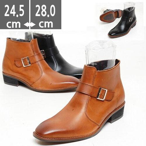 メンズ ブーツ 本革 レザーベルトブーツ ブラック  ウエスタン ブーツ、ヒール5.cm、メンズ ハイヒール、4.0cmヒール ブーツメンズ、ウエスタン ブーツメンズ、ウエスタンブーツ、ヒールブーツ メンズ、乗馬ブーツ メンズ