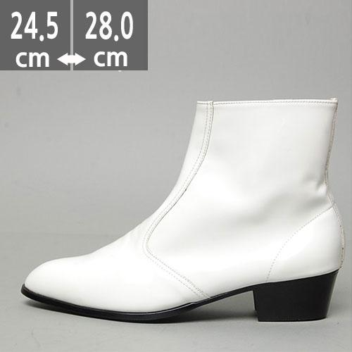 ゴールドブーツ ブラック ホワイト ウエスタン ブーツ、ヒール4.5cm、メンズ ハイヒール、4.5cmヒール ブーツメンズ、ウエスタン ブーツメンズ、ウエスタンブーツ、ヒールブーツ レインブーツ メンズ、