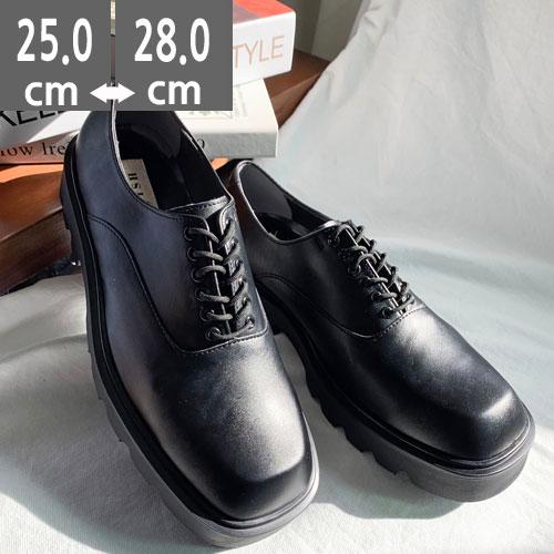 【新商品】カジュアルシューズ、モード系 ドレスシューズ ビジネスシューズ ラバーソール靴 ポストマンシューズ 24.5cm~28.0cm