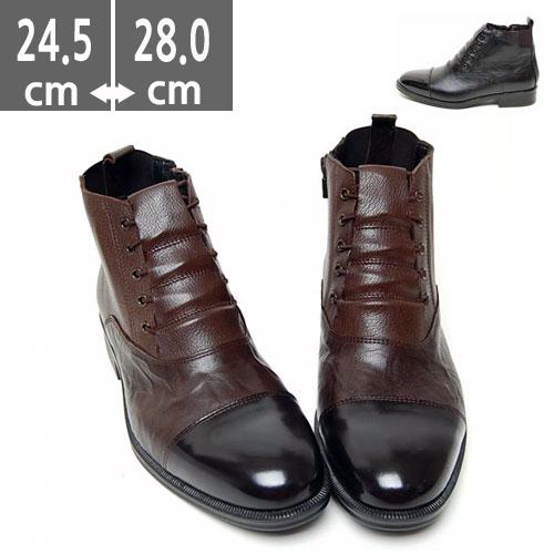 プレミアム牛革 ブーツ ブラック  ウエスタン ブーツ、ヒール3.5cm、メンズ ハイヒール、3.5cmヒール ブーツメンズ、ウエスタン ブーツメンズ、ウエスタンブーツ、ヒールブーツ メンズ、乗馬ブーツ メンズ