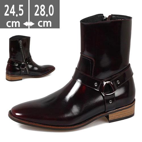 プレミアム牛革  ブーツ ヒールブーツ メンズ ハンドメイド ウエスタン ブーツ、ヒール4.0cm、メンズ ハイヒール、4.0cmヒール ブーツメンズ、ウエスタン ブーツメンズ、ウエスタンブーツ、ヒールブーツ メンズ、黒、ベイジュ、レッド