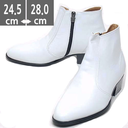 プレミアムメンズ ブーツ 本革 レザーホワイトブーツ ホワイト ウエスタン ブーツ、ヒール5.cm、メンズ ハイヒール、4.5cmヒール ブーツメンズ、ウエスタン ブーツメンズ、ウエスタンブーツ、ヒールブーツ メンズ、乗馬ブーツ メンズ