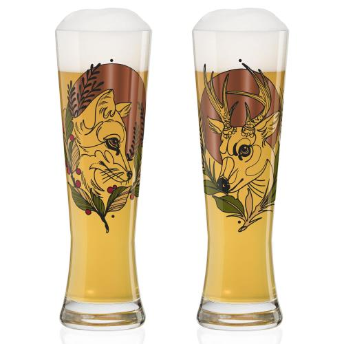 ドイツ発のデザイナーズグラス 最新 ギフトボックス付 RITZENHOFF 日本産 ビアグラス2客セット TIETCHEN リッツェンホフ ドイツ プレゼント ギフト