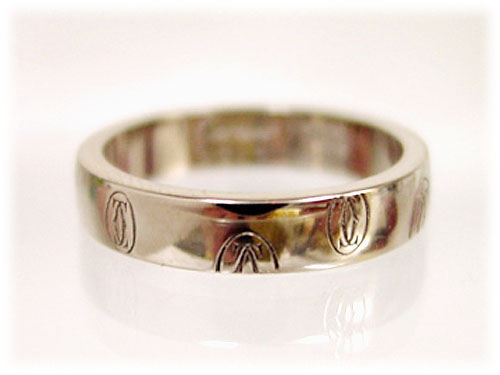 Ring Cartier (CARTIER Cartier) ring (ring) / happy birthday ring SM white