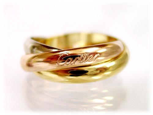 【送料無料】【新品】 カルティエ (CARTIER カルチェ) リング(指輪)/トリニティリング(ニューモデル) ホワイト×イエロー×ピンクゴールド Cartier/カルティエ