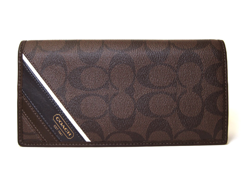7fddacffb7 Coach purse COACH men's long wallet heritage stripe breast pocket wallet  long wallet 74237 MA/BR