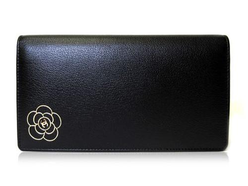 2483641ec071 grandseller: Coco Chanel CHANEL wallets purse Camellia make two bi ...