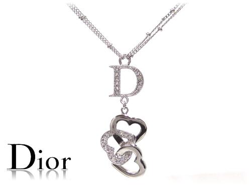 Grandseller rakuten global market three christian dior necklace dior necklace triple heart d22953 aloadofball Images