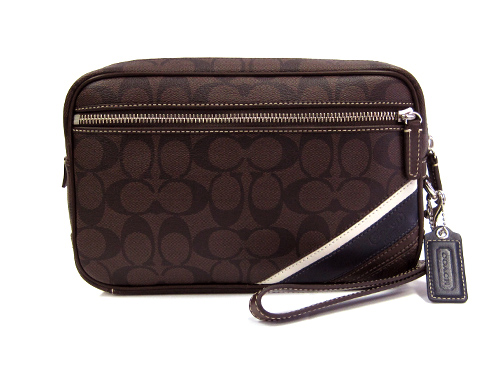 Coach Handbags Bags Second Bag Men S Heritage Striped Flight Case Clutch 70606 Smabr