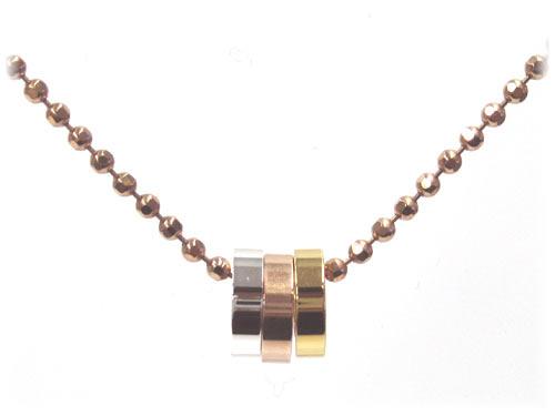 Grandseller rakuten global market three folli follie 3 ring pendant necklace mozeypictures Choice Image