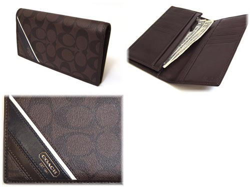 f007e264a57f8 Coach purse COACH men s long wallet heritage stripe breast pocket wallet  long wallet 74237 MA BR